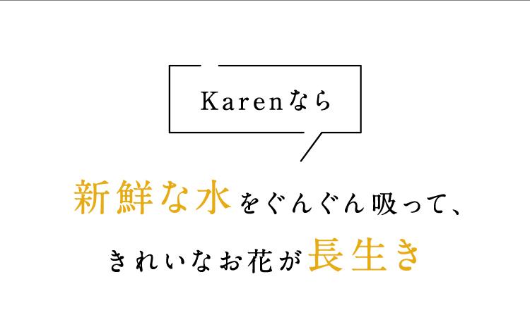 Karenなら新鮮な水をぐんぐん吸って、きれいなお花が長生き