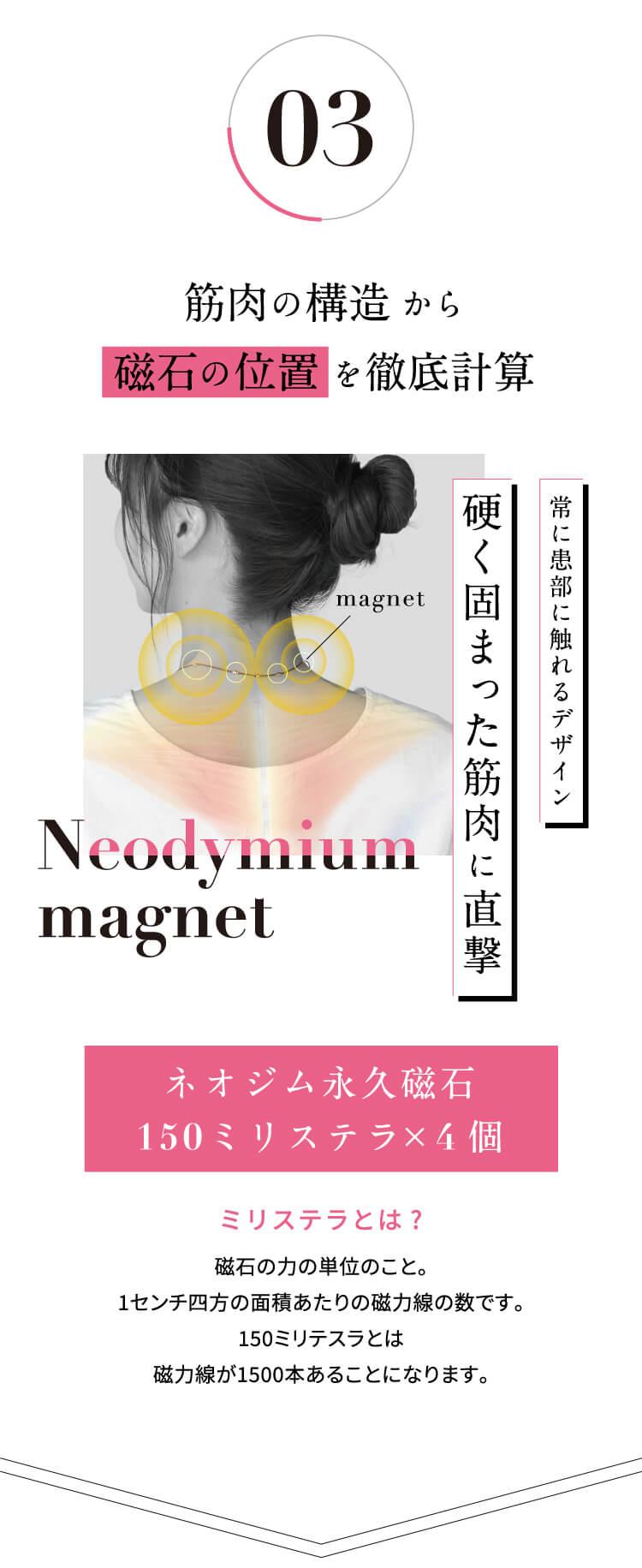 3.筋肉の構造から磁石の位置を徹底計算