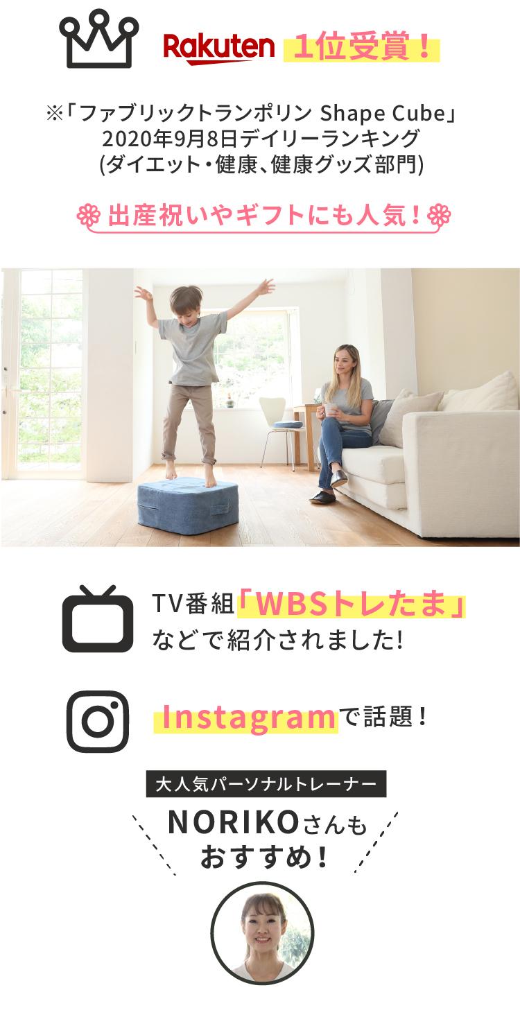 楽天1位受賞・WBSトレたまで紹介・Instagramで話題