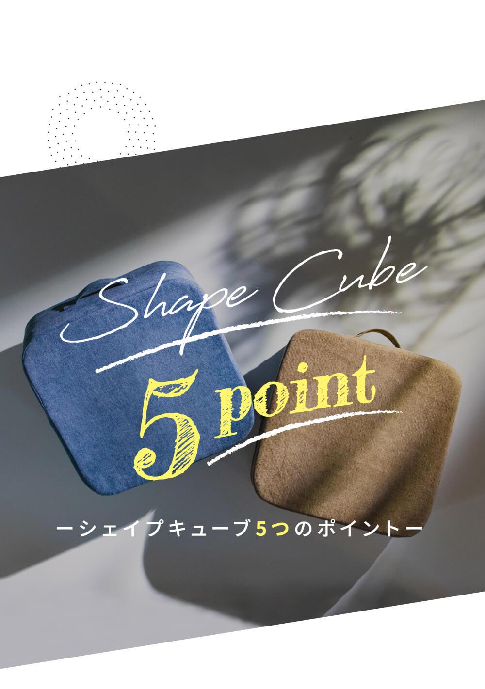 シェイプキューブ5つのポイント
